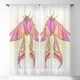 EtEHtH Moth (Original) Sheer Curtain