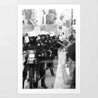 police Art Prints featuring Police by Brandon Elliott Buell