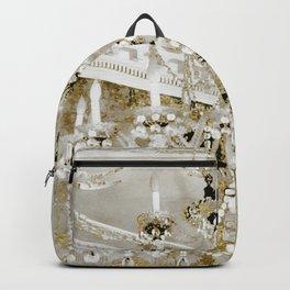 Crystal Pearls Chandelier Paris Backpack