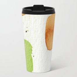 Orange and Green Abstract Art Travel Mug