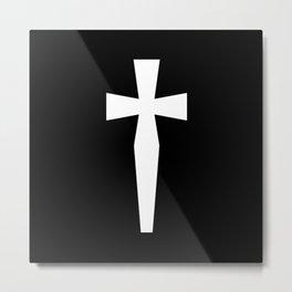 Dagger (White & Black) Metal Print