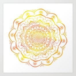 Sunset Lace Art Print