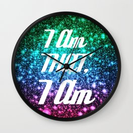 I AM THAT I AM Affirmation Galaxy Sparkle Stars Wall Clock