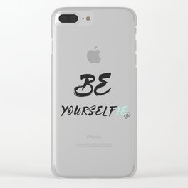 Be yourself(ie) Clear iPhone Case