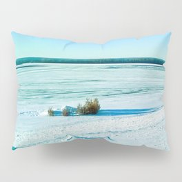 The beauty of the snow and cold. Pillow Sham