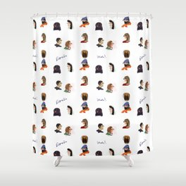 Faces of Spain Shower Curtain
