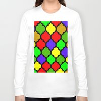 moroccan Long Sleeve T-shirts featuring Moroccan HOLIDAY#3 by Saundra Myles