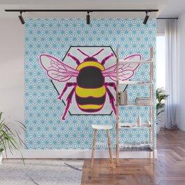 Geometric Bumblebee Wall Mural