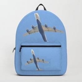 Flying plane enveloped in air Backpack