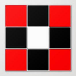 TEAM COLORS 3 ....RED , BLACK Canvas Print