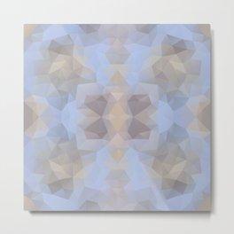 Soft geometric design Metal Print
