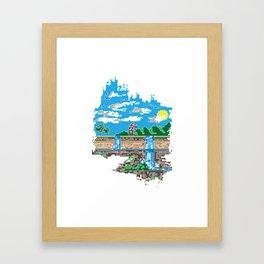 Pixelfalls Framed Art Print
