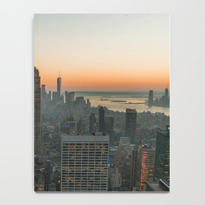 New York Skyline - Manhattan Night Notebook