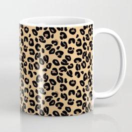 Classic Black and Yellow / Brown Leopard Spots Animal Print Pattern Coffee Mug