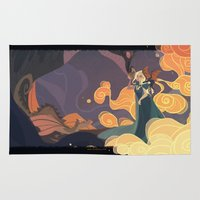 mother of dragons Area & Throw Rugs featuring Mother of dragons by Ann Marcellino