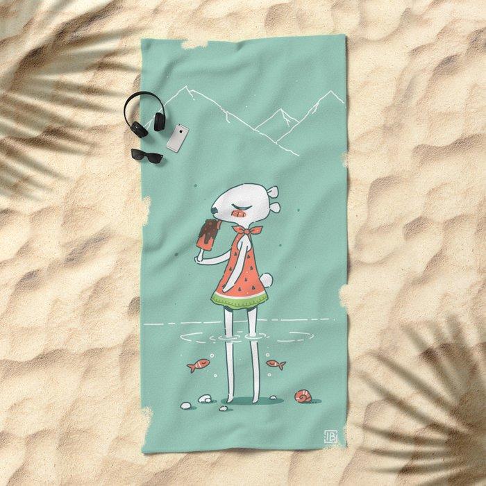 Summer Bear Beach Towel