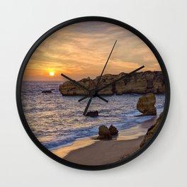 Sunset, Albufeira Wall Clock