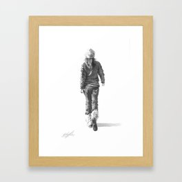 """The Way She Walks"" Framed Art Print"