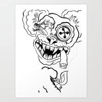 teddy bear Art Prints featuring Teddy by Seth Spriggs