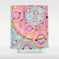 donuts Shower Curtains featuring Donuts by Ilya Konyukhov
