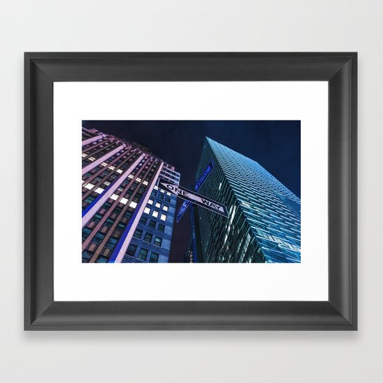 One Way NYC Framed Art Print