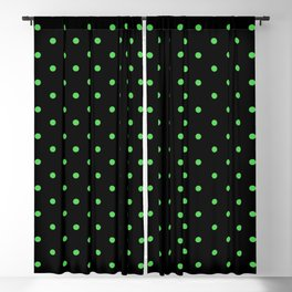 Dotted (Green & Black Pattern) Blackout Curtain