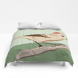 Ruby Crowned Kinglet Comforters