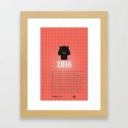 Calendrier 2016 — Vivi Framed Art Print