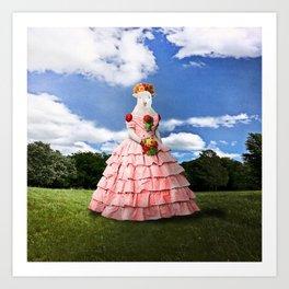 Semolina Sheep on Her Way to the Ball Art Print