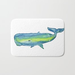 Happy Sperm whale Bath Mat