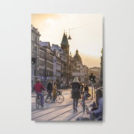 Nørrebrogade at Dusk Metal Print