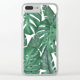 Tropical Leaves Art Print Clear iPhone Case