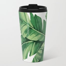 Tropical banana leaves Travel Mug