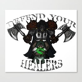 Defend Your Healers Canvas Print