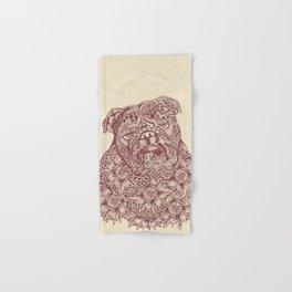 MANDALA OF ENGLISH BULLDOG Hand & Bath Towel