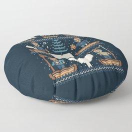 White Whale Christmas Floor Pillow