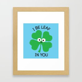 Cloverwhelming Support Framed Art Print