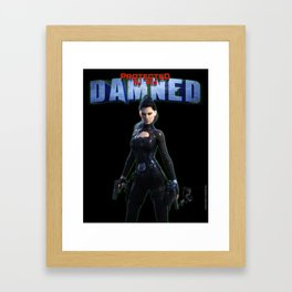 Protected by the Damned Framed Art Print