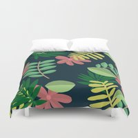 plants Duvet Covers featuring plants by Strange Creatures