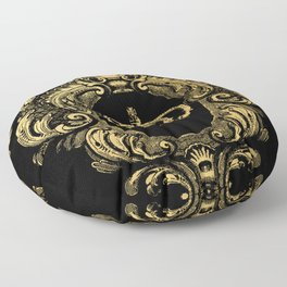 Gold Crown Floor Pillow