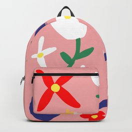 Large Handdrawn Bacchanal Floral Pop Art Print Backpack