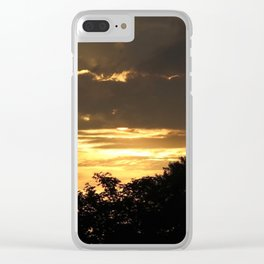 Golden sky Clear iPhone Case