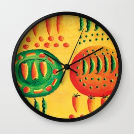 Carrots and Peas Wall Clock