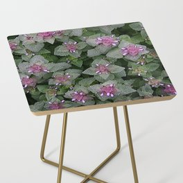 WILD SALVIA MAUVE AND GRAY GREEN Side Table
