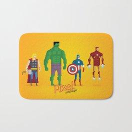 Super Heroes - Pixel Nostalgia Bath Mat