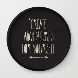 Create Adventures Wall Clock