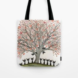 Barbados Whimsical Cats in Tree Tote Bag
