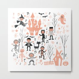 Love shack monsters halloween party Metal Print