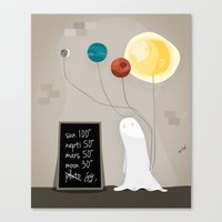planet Canvas Prints featuring Planet by Jane Mathieu