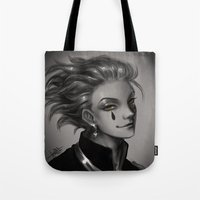 hunter x hunter Tote Bags featuring Hunter x Hunter Hisoka by Mayadevia